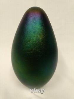 1995 Robert Eickholt FOUNTAIN Seed Life Iridescent Art Glass 7 EGG PAPERWEIGHT