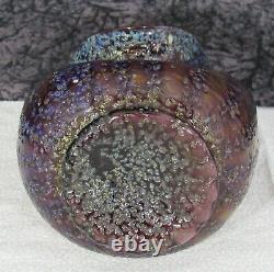 Antique Art Nouveau Dugan Pompeian / Venetian Iridescent Frit Art Glass Vase 2