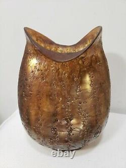 Antique Dugan Glass Pompeian Vase Pinched Frit Iridescent 1906 Art Nouveau