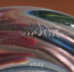 Art Deco Block Crystal Carnival Liquor Decanter Iridescent Art Glass