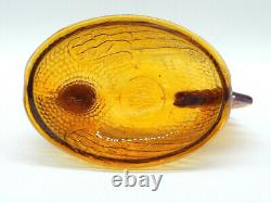 Carnival Glass Vintage Lidded Chicken Dish Marigold Iridescent Indiana Glass