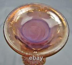 F027 Fenton APRIL SHOWERS RARE Lavender OPALESCENT Carnival Glass 10½ Vase