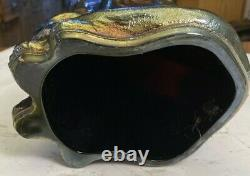 Fenton 11 Purple Gold Blue AMETHYST Iridescent Carnival Glass Winking Ally Cat