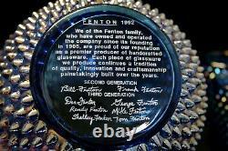 Fenton Cobalt Blue Iridescent Carnival Hobnail Pitcher Glass Set Lemonade Juice
