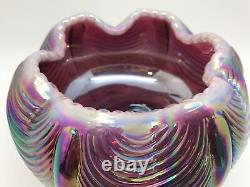 Fenton Glass Bowl Signed LEVAY Numbered, Purple Iridescent 1984 (RF-FR11)