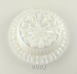 Fenton Iridescent Lavender Carnival Hobnail Snow Crest 3 Piece Glass Fairy Lamp