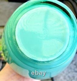 Fenton Levay Aqua opalescent Peach carnival glass Vase 10