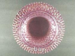 Fenton Pink Iridescent Glass Pitcher 7 3/4 Vintage Hobnail Carnival Depression