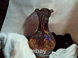IMPERIAL GLASS GRAPE/LOGANBERRIES Carnival Glass VASE IRIDESCENT
