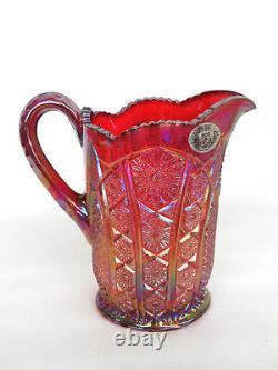Indiana Carnival Glass Heirloom Sunset Iridescent Pitcher 368B