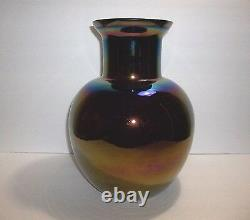Vintage CAMBRIDGE Carnival Glass VASE 12 Rare