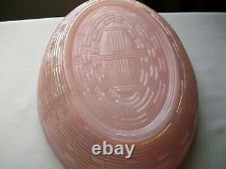 Vintage Fenton Hen Rooster On Nest Large 8 1/2 Shell Pink Iridescent Carnival