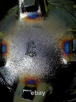 Vintage Imperial LG carnival iridescent purple glass bowl